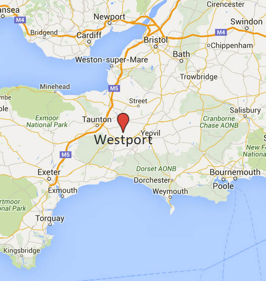 Westport, Langport location in Somerset